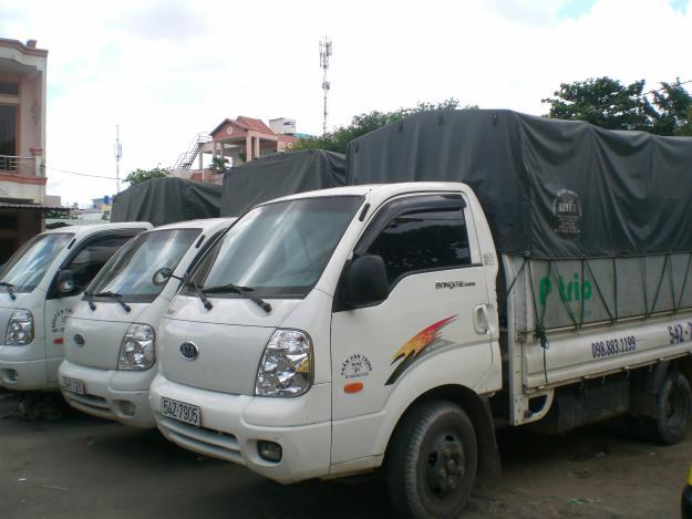 Taxi tải có nhiều trọng tải khách nhau
