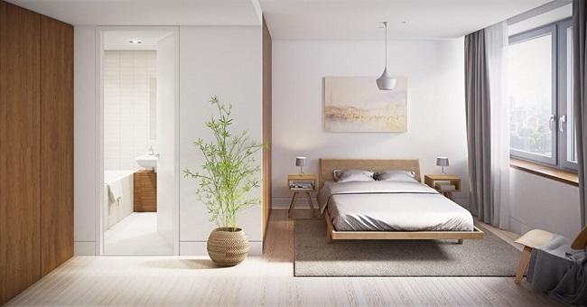 Giường ngủ không nên đối diện cửa nhà tắm, nhà vệ sinh