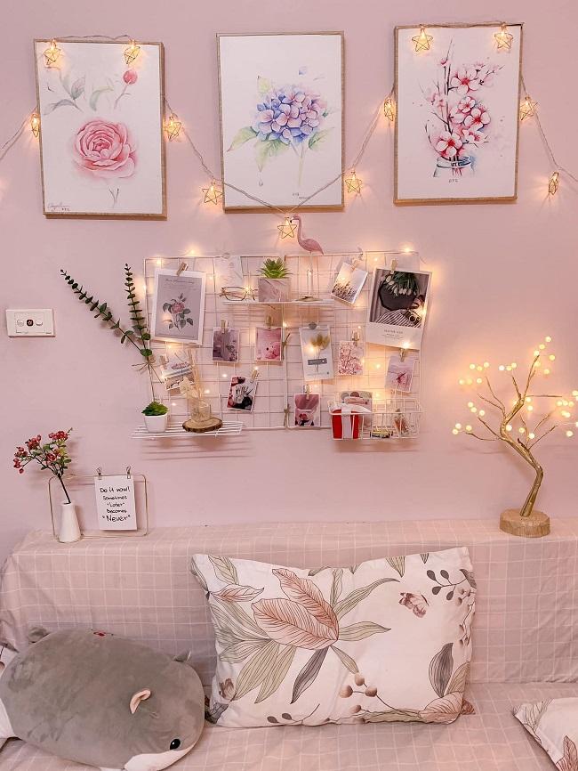 Sử dụng tranh hoặc ảnh để trang trí phòng trọ