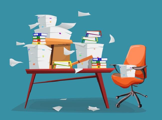 Sắp xếp lại đồ dùng cả nhân tại công ty