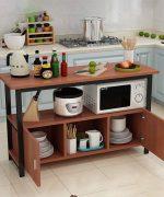 Sử dụng các kệ bếp giúp nhà bếp trở nên gọn gàng