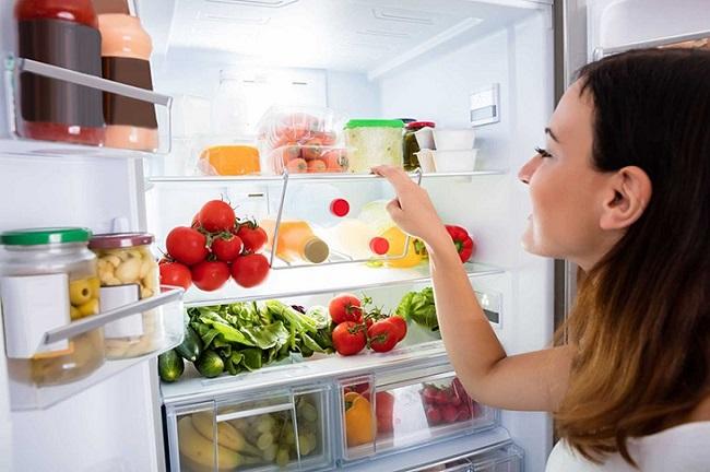 Đặt vừa đủ thực phẩm trong tủ lạnh