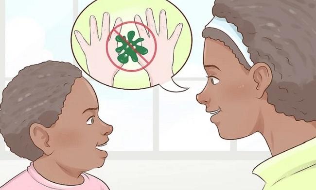 Nói với trẻ về mối nguy hại của vi trùng
