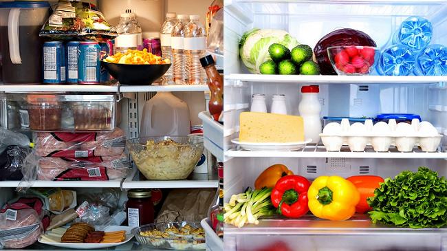 Sắp xếp và bảo quản thực phẩm hợp lý