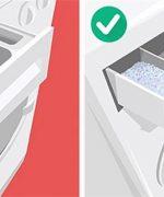 Bột giặt không phù hợp hoặc cho quá nhiều bột giặt