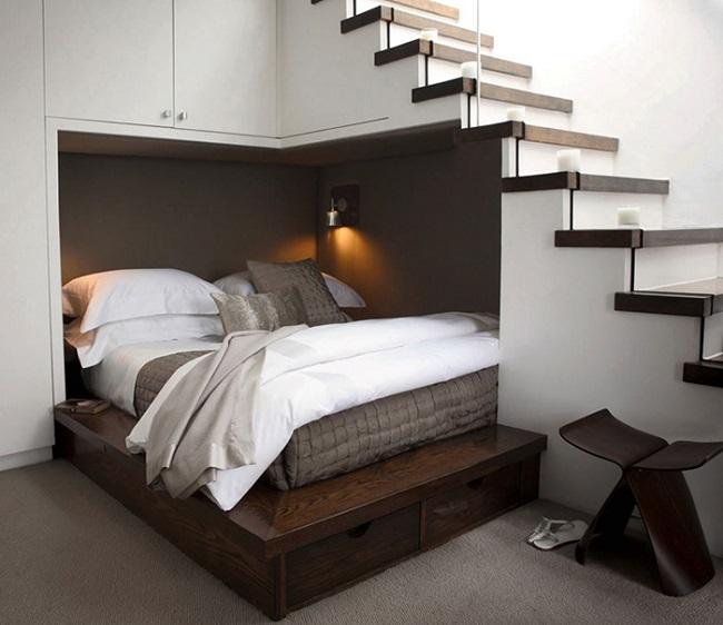 Kê giường dưới thanh xà ngang