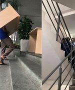 Hãy chia nhỏ đồ đạc khi chuyển nhà qua cầu thang nhỏ