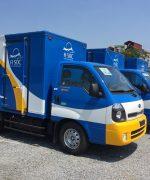 Xe tải nhanh chóng có mặt tại địa điểm yêu cầu sau khi liên hệ và thỏa thuận dịch vụ vận tải của A Sóc