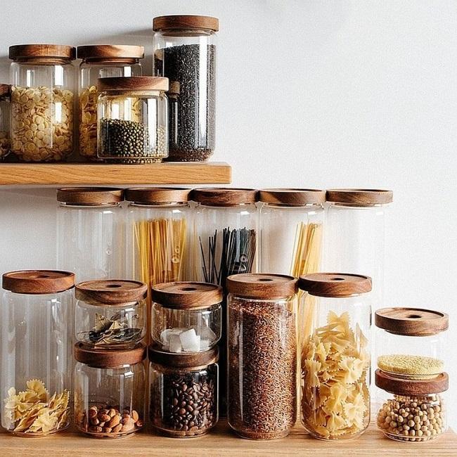 Nên thay thế hộp carton, hộp nhựa đựng thực phẩm, đồ khô bằng lọ thủy tinh
