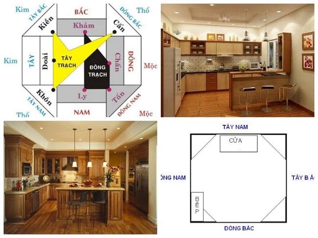 Phòng bếp được đặt ở vị trí hợp lý có thể mang lại nguồn năng lượng tích cực cho các thành viên trong gia đình