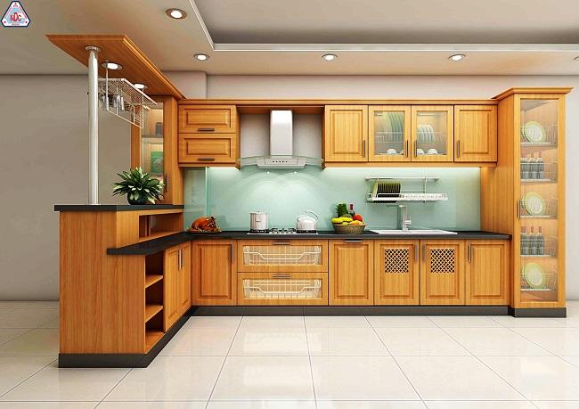 Tủ bếp, kệ bếp, đồ dùng nhà bếp,…nên ưu tiên chất liệu gỗ sẽ là tốt nhất cho phong thủy căn bếp của bạn.